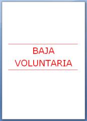 Carta de baja voluntaria