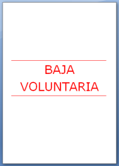 Carta de baja voluntaria